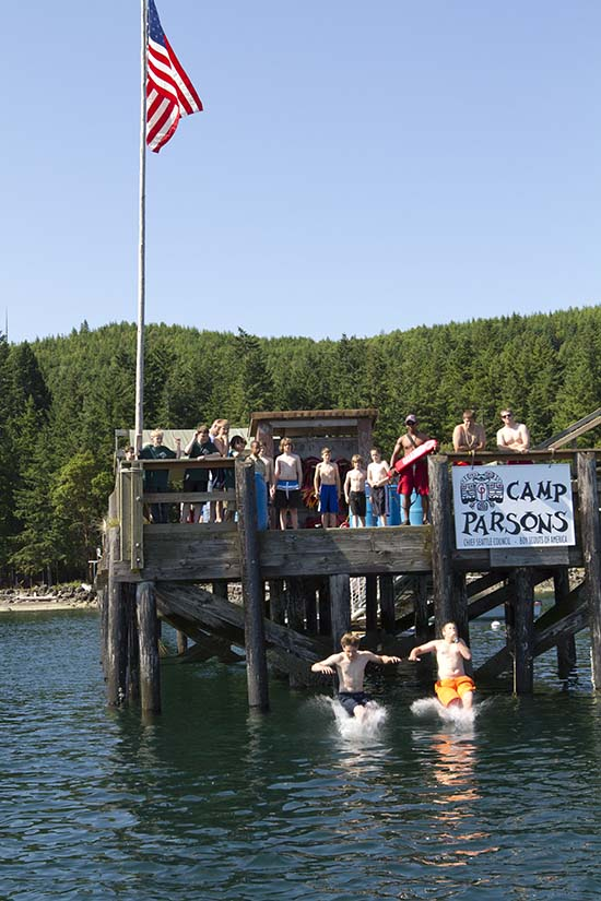 """Camp Parsons, Seattle """"Cool Camp"""" for Scouting magazine """"Cool Ca"""