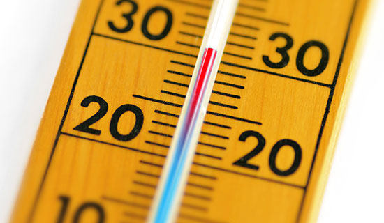 30 Degrees Thermometer