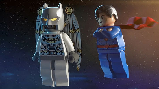 Lego Batman in Space with Superman