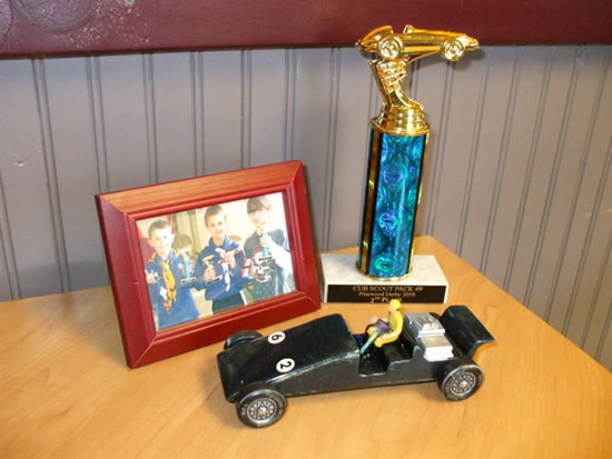 Pinewood derby car