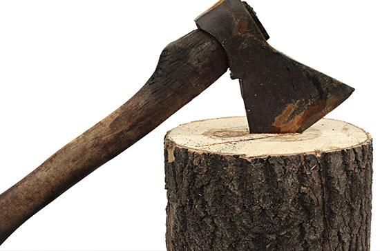 axe-and-log