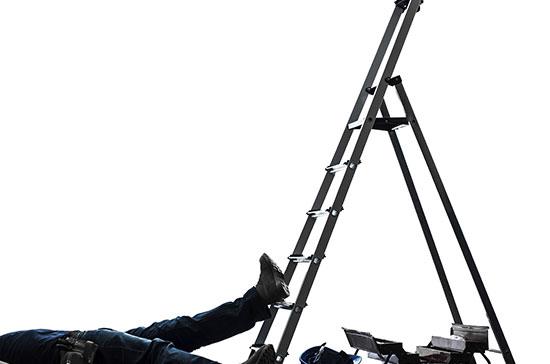 man-under-ladder