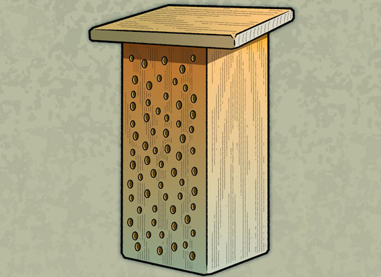 Finished bee house