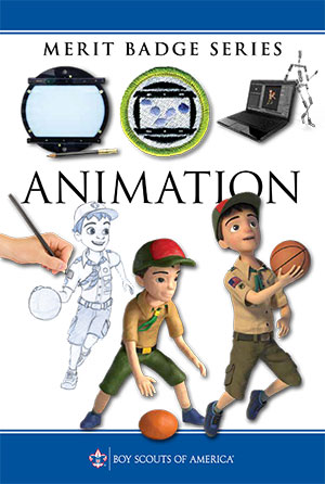 The Animation merit badge pamphlet is available at Scout Shops or at scoutshop.org.