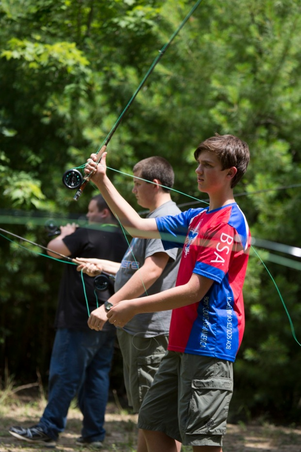 Boys' Life coverage of Scouts learning to fish in different environments